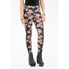 Blumendruck-Leggings mit Elsaticzed Taille für OEM