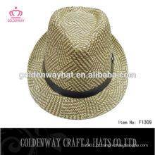 Chapéu de fedora de croche de senhora mista