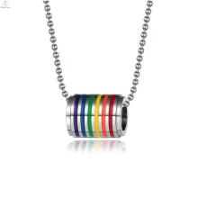 Дешевые цены гей-прайда ювелирные изделия из нержавеющей стали гей кольца для помолвки ожерелье