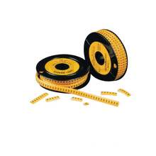 Yellow PVC circle cable markers strips