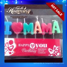 Ich liebe MAMA und ich liebe PAPA Geburtstagskerzen Briefkerzen
