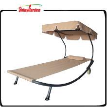 Outdoor Chaise Lounge Chair Hängematte Bett mit Baldachin und Rädern