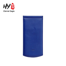 Portable pure color leather glasses bag