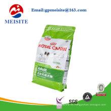 Plástico que se levanta bolsas de alimentos para mascotas bolsas de alimentos para perros