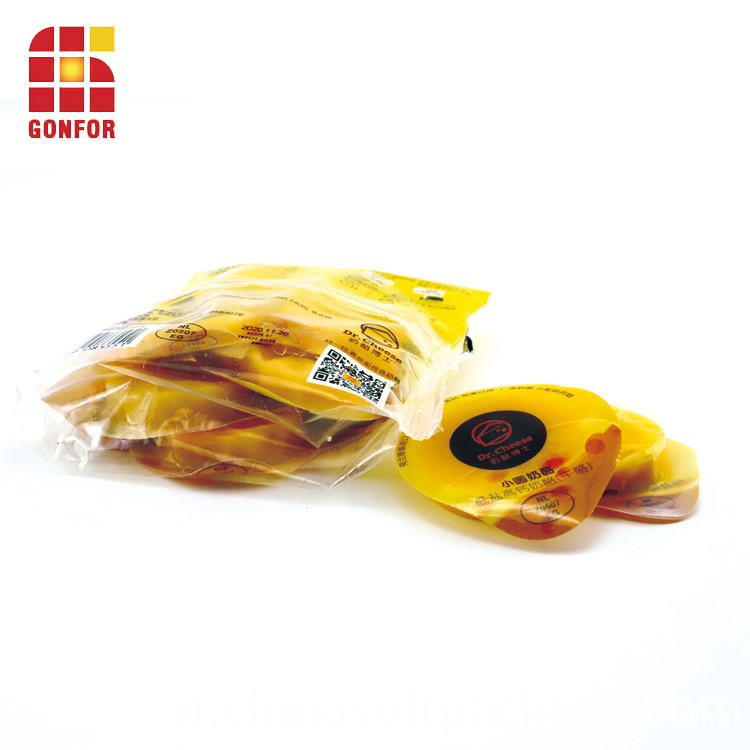 Chilled Food Cheese Packaging Material Fin Seal Bags 3