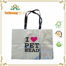 Promotion Top Grade Silver Metallic Non-Woven Bag for Wholesales