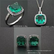 Popular Emerald Color Spinel Jewelry Set