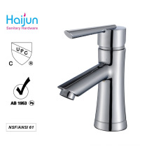 New design cUPC high quality lead free brass single handle basin faucets(81H36-CHR-013)