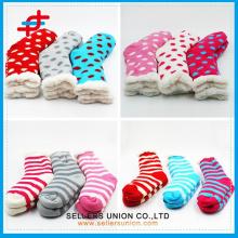 Custom 2015 New Winter Cotton Velvet Knitted Soft Indoor Socks home slipper sock