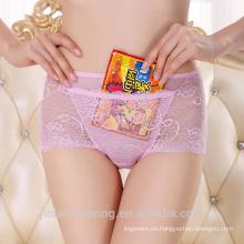 Ropa interior transparente atractiva de la mujer del cordón del lujo al por mayor con el bolsillo 5189