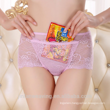 Wholesale Luxury Lace Sexy Transparent Woman Underwear With Pocket 5189