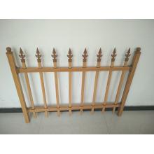galvanized steel picket fence