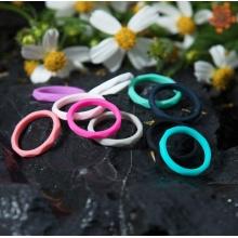Плетеное силиконовое обручальное кольцо для женщин