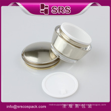 SRS luxury skin care plastic jar and luxury 15g 30g 50g acrylic wholesale cosmetic containers