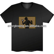 music activated LED flash T-shirt HOT sell 2016