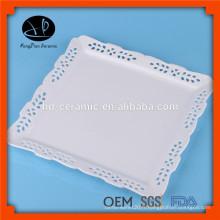 Impression personnalisée plaque de céramique décorative, plaque carrée