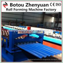Máquina de formação de chapas de alumínio / máquina de folhas de telhado ondulado