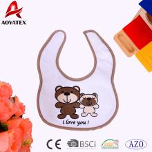 Polyester various animal modelling printing baby drool bibs