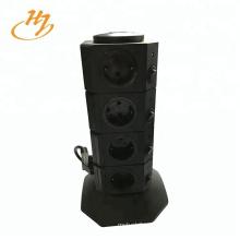 Schwarzer 2-USB 4-Layer-Vertikal-Tower-Anschluss