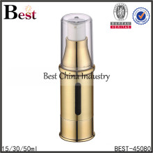 small transparent double wall acrylic airless Pump Bottle for cosmetic