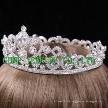2016 Braut Slloy Silber überzogene Rhinestone Krone