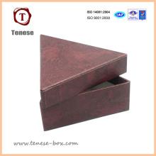 Caixa de presente de embalagens de embalagens decorativas para o triângulo artesanal
