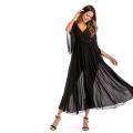 Женское сексуальное вечернее платье с глубоким V-образным вырезом