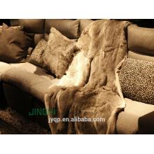 Fruffy de haute qualité luxueuse fourrure de lapin jeter grande couverture