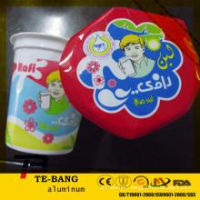 aluminium foil lid for plastic yogurt cup