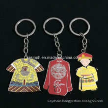 Customized Chinese Theme Synthetic Enamel Keychain as Gifts