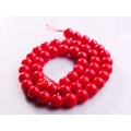 8MM Round Red Coral Gemstone Beads for DIY Jewelry