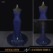 Schöne lange Kittel Designs Abendkleider Abend tragen königsblau lange Kleider für Hochzeitsfeier