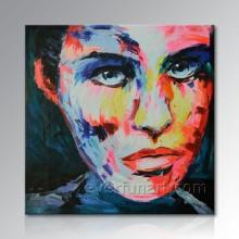 Handgemalte moderne Segeltuch-Pop-Kunst-abstraktes Portrait-Ölgemälde von Ihrem Foto