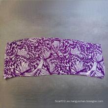 Poliéster de algodón Voile mariposa de impresión pequeña toalla bufanda