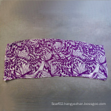 Polyester Cotton Voile Butterfly Printing Small Towel Scarf