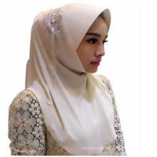 Moda mulheres dois facewomen hijab lenços muçulmanos / cachecol