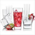 Factory Direct Haute qualité Carré Whisky Glass Résistant à la chaleur Transparent Glass Cup
