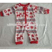 2017 hot sell printed family homewear kids christmas pajamas wholesale