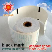 rollo de papel térmico marca negra