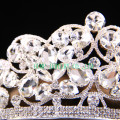 Große klare Stein Tiara Hochzeit Rhinestone Krone