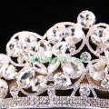 Большой прозрачный камень Tiara Свадебный горный хрусталь короны