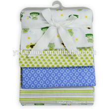 Surtido barato algodón franela ahora nacido bebé bebés mantas