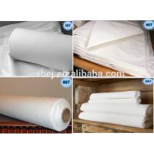20s 120TC 60 * 60 100% algodão tecido branco para o conjunto de lençol