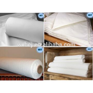 20 s 120TC 60 * 60 100% coton blanc tissu pour ensemble de draps
