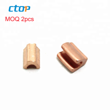 Wholesale factory high quality custom designer metal brass zipper u-shape top stop custom top and bottom stops for zipper