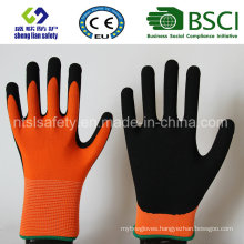 Nitrile Coating, Sandy Finish Safety Work Gloves (SL-NS108)