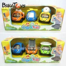 Colorful plastic freewheel cartoon slide toy car