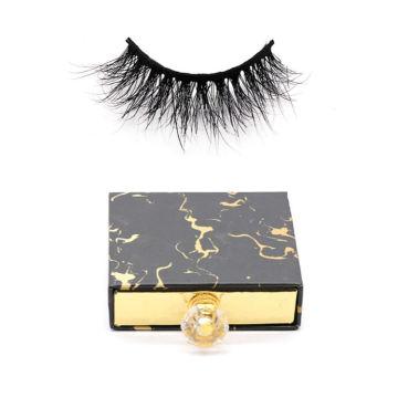 606 Hitomi eyelash vendor customized boxes Reusable Mink Eyelashes paper eyelash packaging 3d real mink eyelash