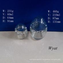 60ml 210ml Egg-Shape Glass Pudding Jar Glass Yogurt Jar 2oz 7oz