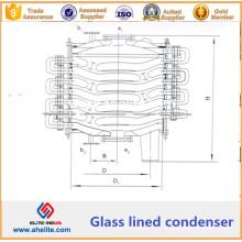 Condensador de vidrio revestido - Condensador químico revestido de vidrio